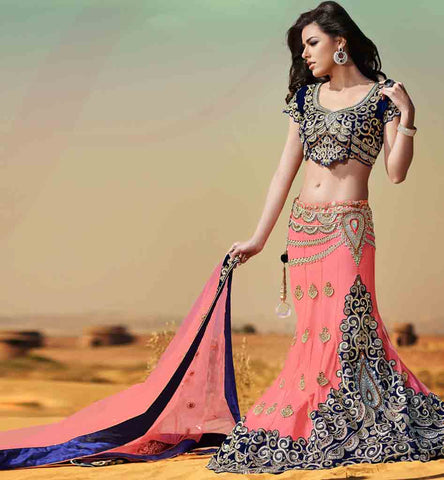 DESIGNER INDIAN FISH CUT BRIDAL LEHENGA CHOLI ONLINE SHOPPING