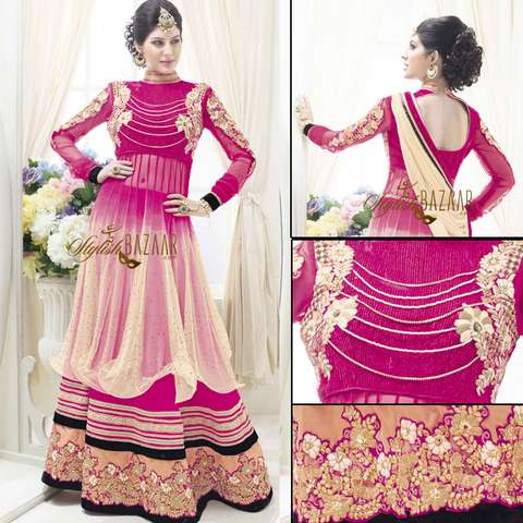 EYE-CATCHING DESIGNER  BRIDAL WEAR 3PC LEHENGA CHOLI SUIT RTBU102