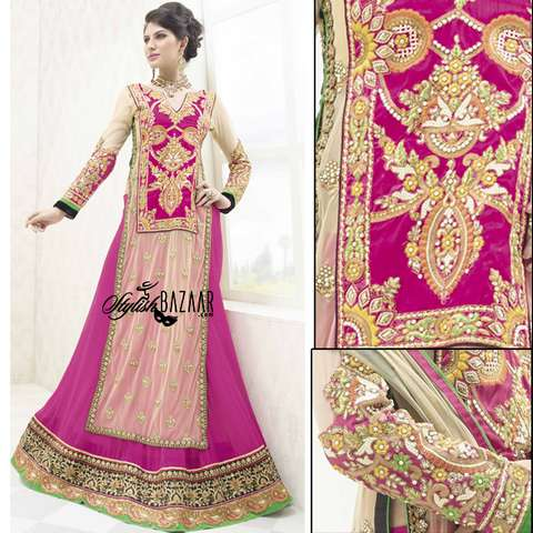 IRRESISTIBLE DESIGNER 3PC BRIDAL WEAR LEHENGA CHOLI SUIT