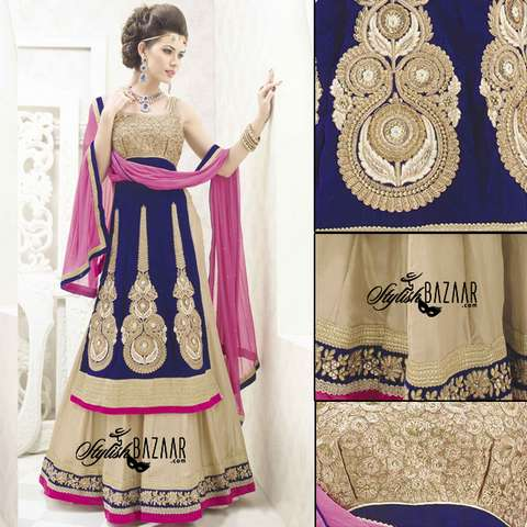 STUNNING DESIGNER 3PC BRIDAL WEAR LEHENGA CHOLI SUIT