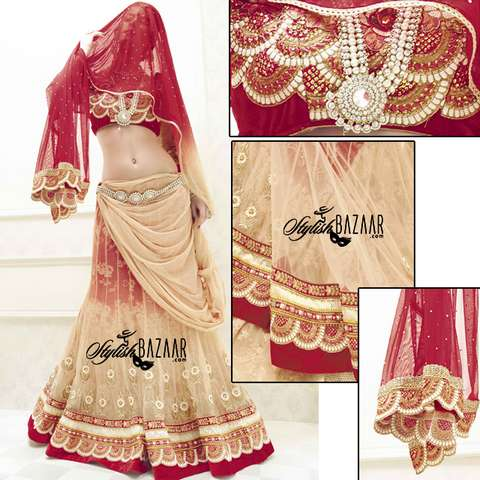 AWESOME DESIGNER 3PC BRIDAL WEAR LEHENGA CHOLI SUIT