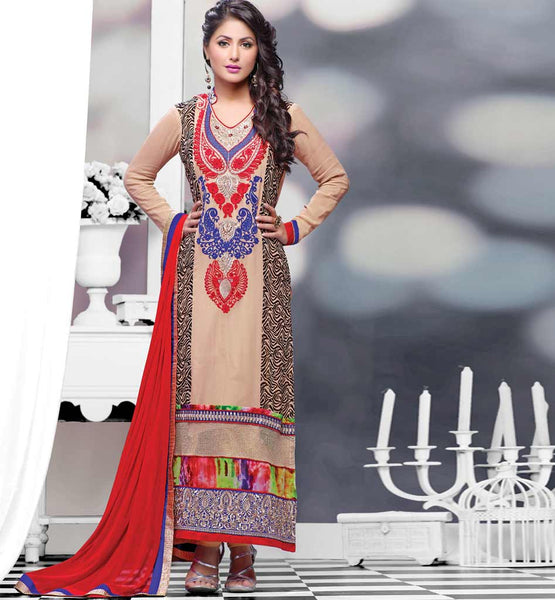 Hina Khan (Akshara) Karachi Style Dress from StylishBazaar.