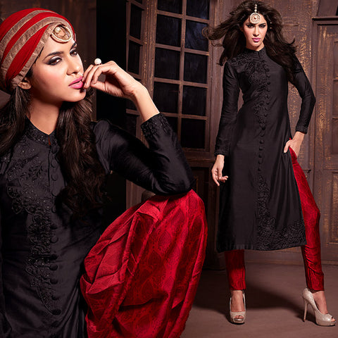 MAISHA MASKEEN ANANYA PAKISTANI LOOK STRAIGHT PARTY WEAR SALWAR SUIT ONLINE SHOPPING INDIA MSH14007