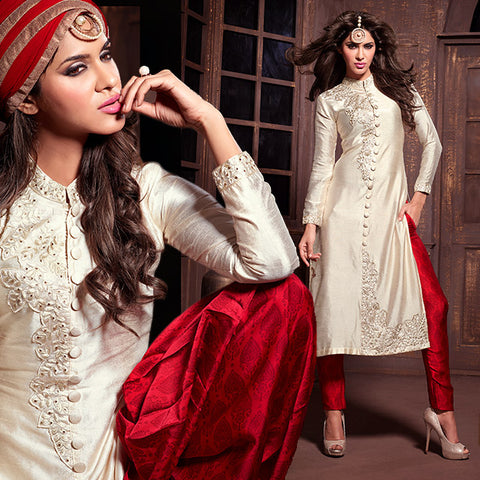 MAISHA SURAT 2015 FASHION PARTY WEAR SILK SALWAR KAMEEZ SUITS DESIGNER DRESSES MSH14008