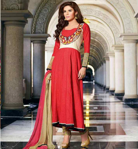 LATEST DESIGNER COTTON PARTY WEAR ANARKALI SALWAR KAMEEZ M.R.P. Rs. 3225.00