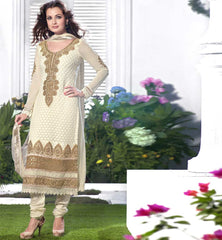 Dia mirza in cream salwar kameez