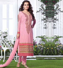Dia mirza in pink dress