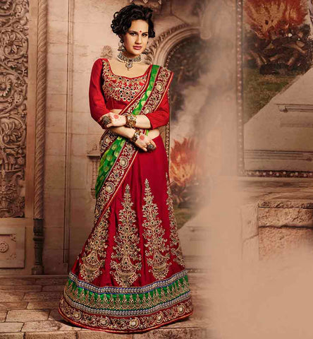 RAJWADI DESIGNER BRIDAL LEHENGA SAREE BLOUSE DESIGNS ONLINE SHOPPING