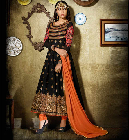 Beatiful Designer Black Anarkali Dress.