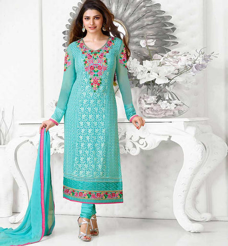 Bollywood Celebrity Prachi Desai in Beautiful A-Line  / Straight Karachi Style Salwar Suit