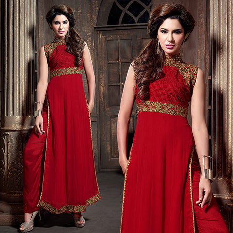 2108 MAISHA NEW DESIGNS RED PARTY WEAR SALWAR SUIT