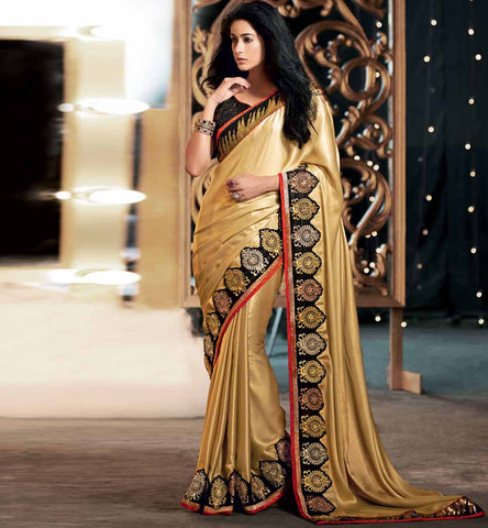 Shimmer material heavy look premium Indian saree by Stylishbazaar - shop online now - Rate Rs. 4100.00 Design Code - RTKUB2321