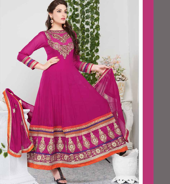 Tvisha Pink Party wear Anarkali suit Rate Rs. 2930.00