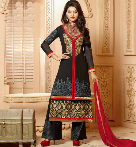 Black designer party wear salwar kameez