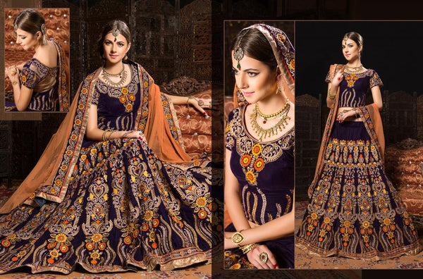 Latest 2015 designer Indian bridal weear Rajwadi Lehenga Choli with price
