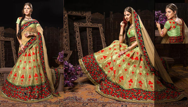 Indian Bridal wear Lehenga choli Above Rs. 20000.00 Shop Online