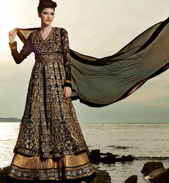BLACK & GOLD WEEDDING ANARKALI
