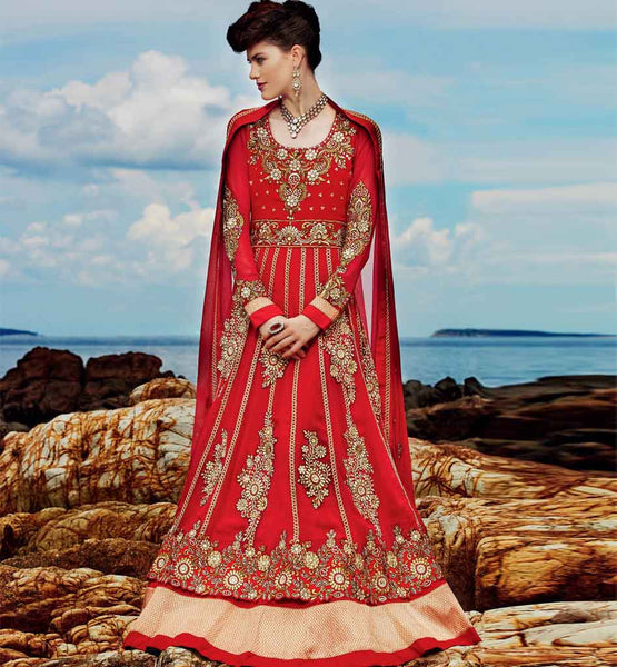 Lovely maroon wedding anarkali