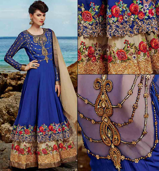 Bewitching Blue wedding wear Anarkali