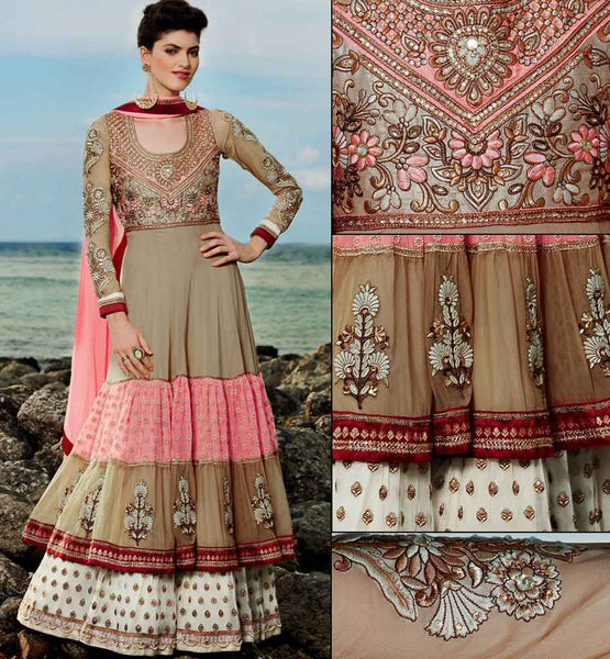 frill style wedding wear anarkali
