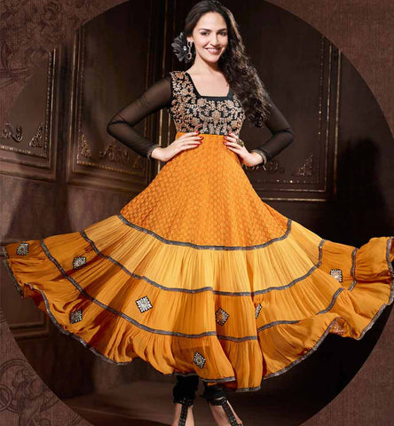 Esha Deol orange Anarkali