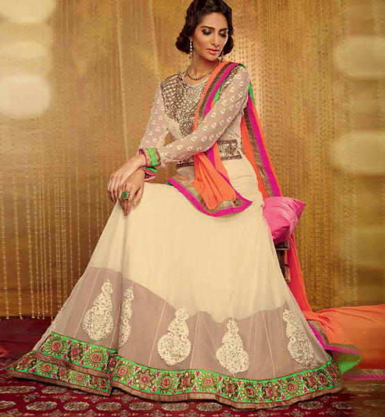 Light Full Length Anarkali Dress