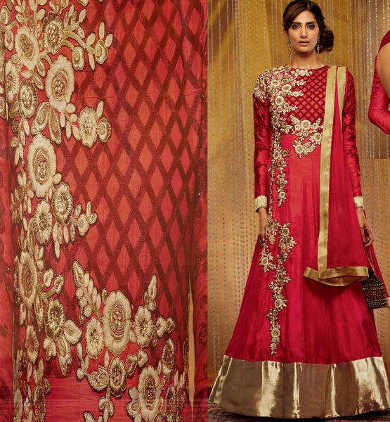 Maroon Full Length Anarkali Dress