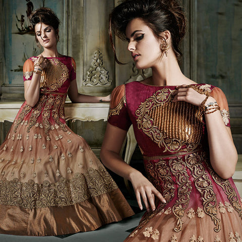 8004 KHWAAB AURA ANMOL FASHIONS SHADED WEDDING WEAR FLOOR LENGHT ANARKALI DRESS