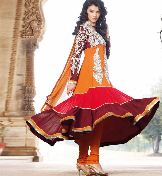Glamour Collection - Heavy Designer Wedding wear Anarkali Dress Material