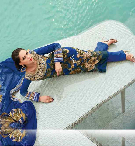 PRETTY LAWN COTTON SALWAR KAMEEZ WITH BEMBERG CHIFFON DUPATTA