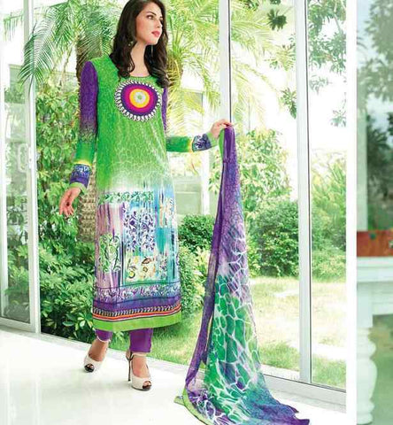 TEMPTING LAWN COTTON SALWAR KAMEEZ WITH BEMBERG CHIFFON DUPATTA