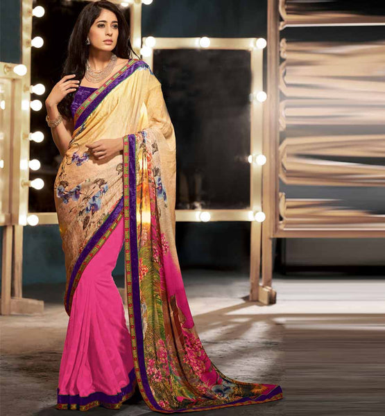 Beautiful stylish bazaar digital print Indian party wear saree - click to buy - Rs. 2725.00 Design Code - RTKUB2308.
