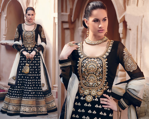 kimora 501 Black Anarkali