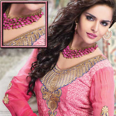 Jewellery - Irresistible pink light weight modern look necklace