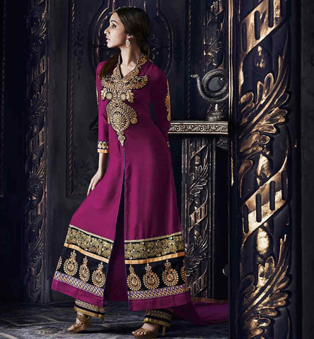 Shraddhakapoor_darkpink_ salwarsuit