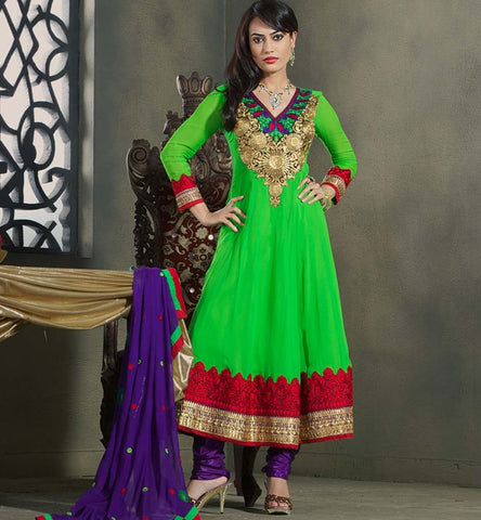 Surbhi Jyoti Zoya from Qubool hai in Green embroidered anarkali dress, price Rs. 1800.00