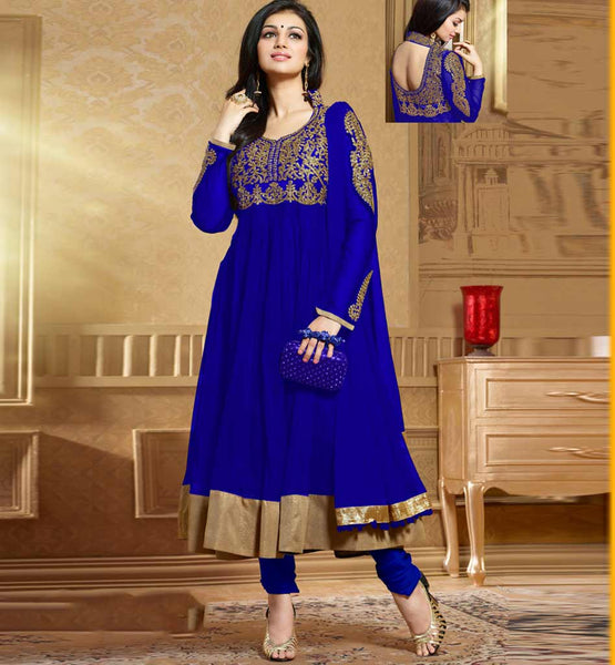 Ayesha Takia in Designer blue color Anarkali salwar kameez