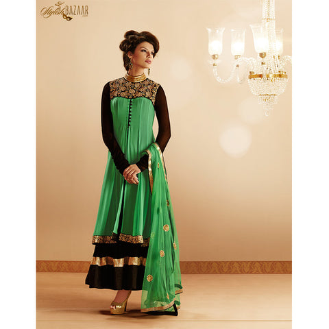 GORGEOUS GREEN GEORGETTE SALWAR KAMEEZ