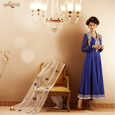 BEAUTIFUL BLUE GEORGETTE SALWAR KAMEEZ