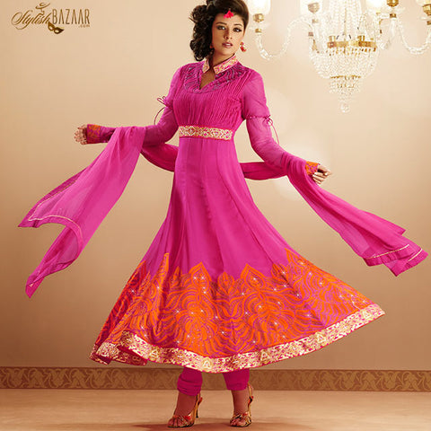 PLEASING PINK SALWAR KAMEEZ