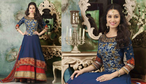 ALL NEW SHRADDHA KAPOOR DRESSES COLLECTION - EUROPEAN GOWN STYLE SHRADDHA KAPOOR ANARKALI SUIT