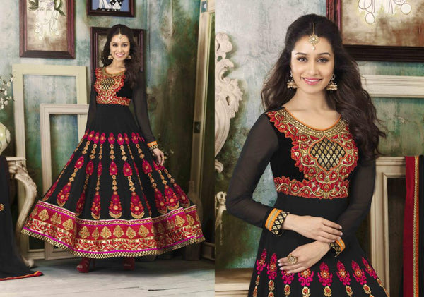 ALL NEW SHRADDHA KAPOOR DRESSES COLLECTION - EYE-CATCHING SHRADDHA KAPOOR KALIDAR ANARKALI SUIT