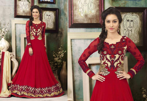 ALL NEW SHRADDHA KAPOOR DRESSES COLLECTION - MAJESTIC MAROON  SHRADDHA KAPOOR ANARKALI DRESS