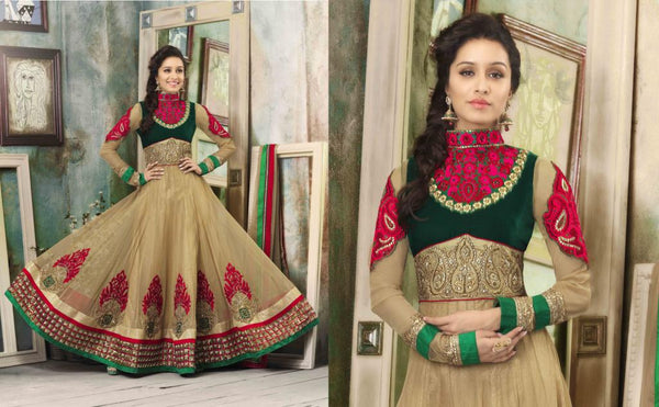 ALL NEW SHRADDHA KAPOOR DRESSES COLLECTION - ROYAL HIGH-NECK GOWN STYLE SHRADDHA KAPOOR ANARKALI