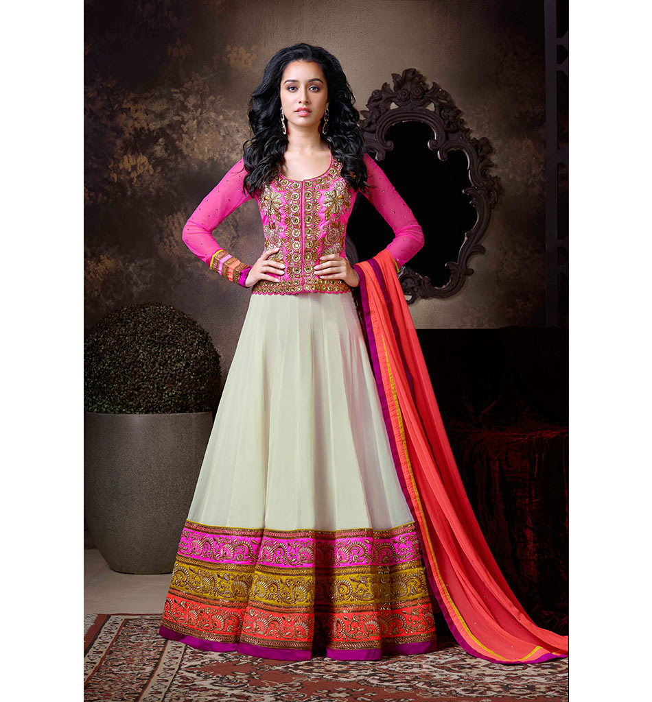 1116 BEAUTIFUL LONG SKIRT STYLE SHRADDHA KAPOOR DRESS ANKS1116