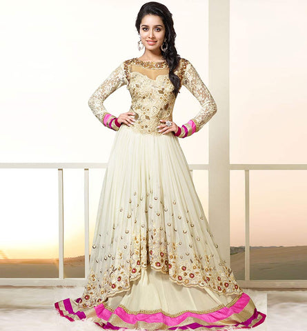 1130A STUNNING CREAM COLOR SHRADDHA KAPOOR DRESS ANKS1130