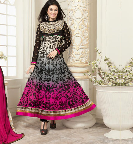 VINAY DRESSES 1598 EXOTIC PRINTS SHADED AYESHA TAKIA ANARKALI SALWAR SUIT VNAT1598