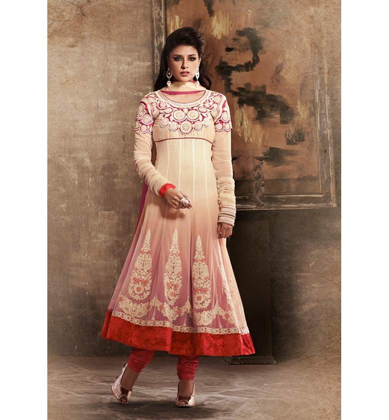 SUPERB SHADED GEORGETTE ANARKALI SUIT