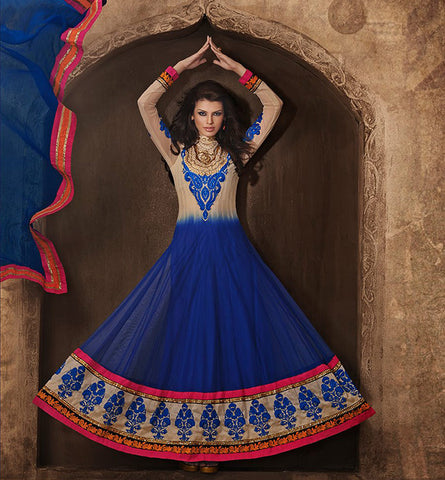 1824 RAMA SAAZ GORGEOUS GEORGETTE SHADED ANARKALI SALWAR SUIT RMSZ1824