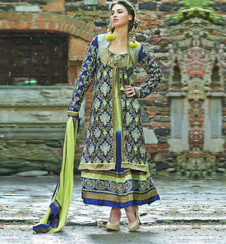 2006 GORGEOUS JACKET LOOK ANARKALI SALWAR SUIT INZH2006
